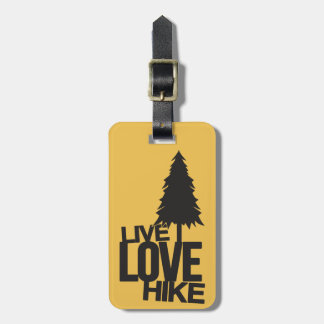 Live Love Hike | Hiking Luggage Tag