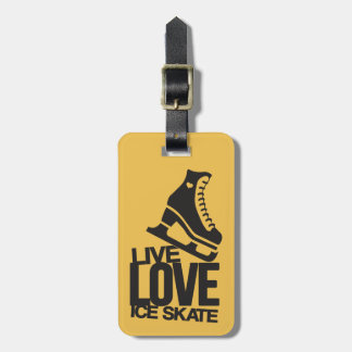 Live Love Ice Skate | Figure skating Luggage Tag