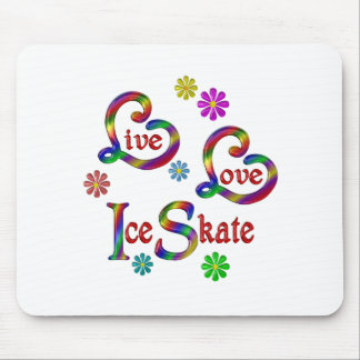 Live Love Ice Skate Mouse Pad