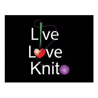 Live Love Knit Post Cards