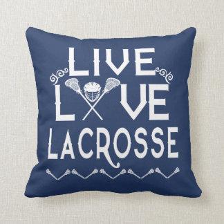 LIVE - LOVE - LACROSSE CUSHION