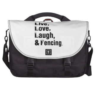 Live Love Laugh And Fencing Laptop Commuter Bag