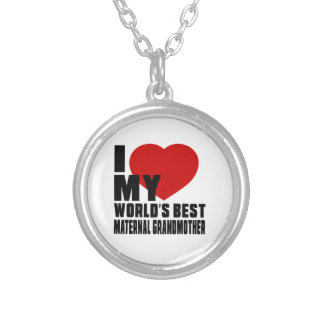 Live Love Laugh And MATERNAL GRANDMOTHER Round Pendant Necklace
