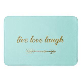 Live Love Laugh Arrow Gold Glitter Sparkle Large Bath Mat