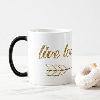 Live Love Laugh Arrow Gold Glitter Sparkle Mug