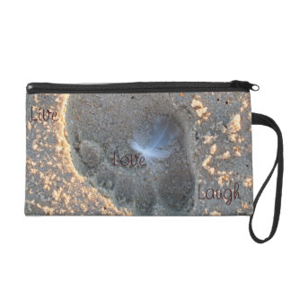 Live, Love, Laugh Beach Wristlet