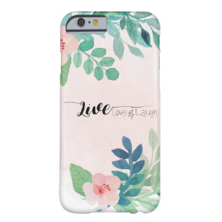 Live, Love, Laugh Boho Floral Watercolor Design Barely There iPhone 6 Case