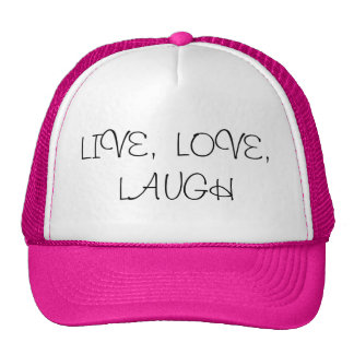 Live, love, laugh cap