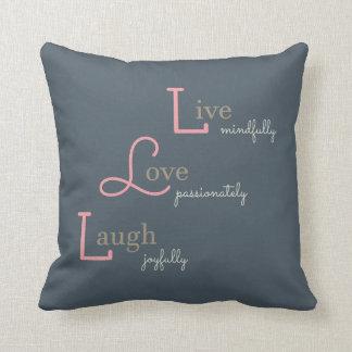 Live Love Laugh Cushion