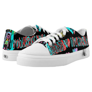 live love laugh customizable neon low tops printed shoes