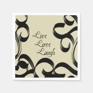 Live, Love, Laugh Disposable Serviette