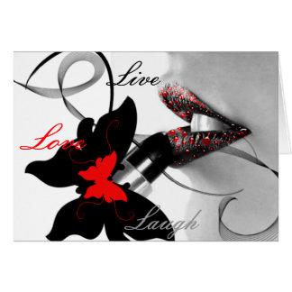 Live Love Laugh Diva Greeting Card