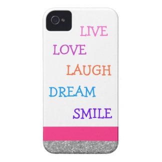 Live love laugh dream smile iPhone 4 Case-Mate cases