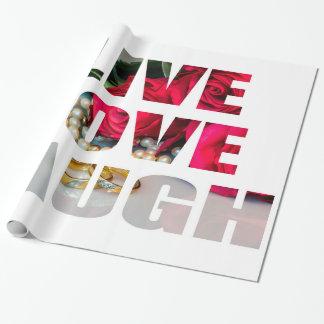 Live Love Laugh Gift Wrap