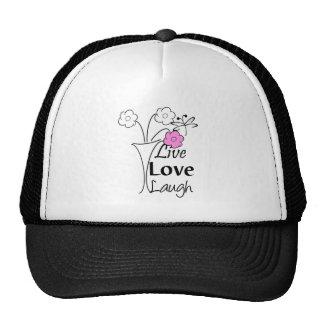 Live Love Laugh Trucker Hats