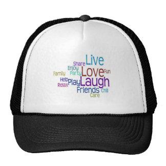 Live Love Laugh Mesh Hats