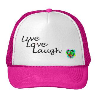 Live Love Laugh Home Decor colorful-18 Trucker Hats