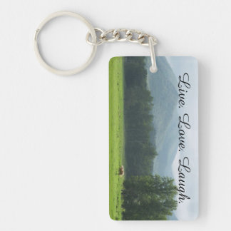 Live. Love. Laugh. Horse Keychain