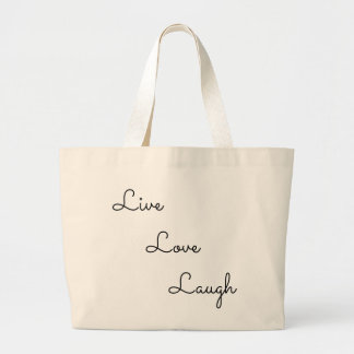 live love laugh large tote bag