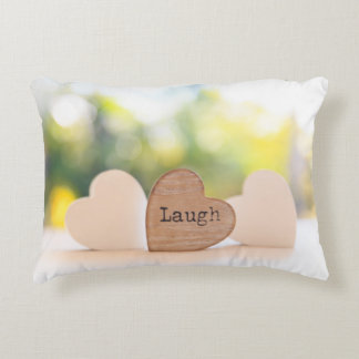 Live, Love, Laugh - Laugh Decorative Cushion