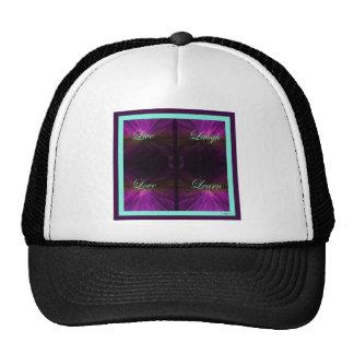 Live, Love, Laugh, Learn -Purple Mesh Hats