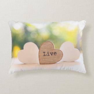 Live, Love, Laugh - Live Decorative Cushion