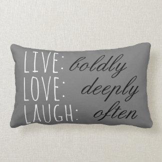 Live Love Laugh Lumbar Pillow