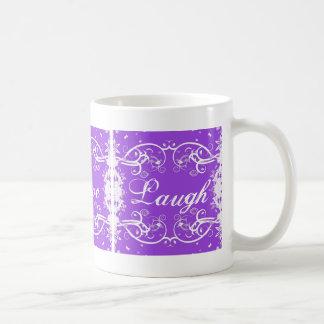 """Live, Love, Laugh"" on purple swirls Mugs"