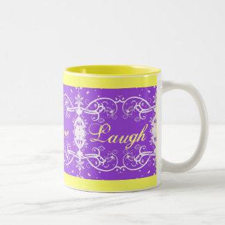 """Live, Love, Laugh"" on purple swirls Mug"