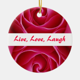 Live, Love, Laugh Ornament