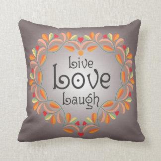 Live Love Laugh pillow