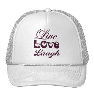 Live Love Laugh Pink Damask Pattern Cap