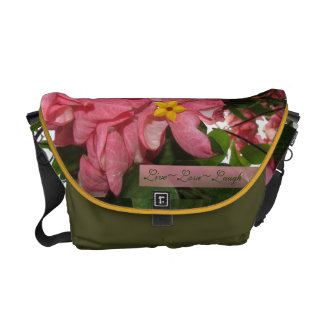 Live Love Laugh Pink Flowers and Yellow star Bag Commuter Bag