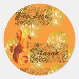 Live, Love, Laugh Round Sticker