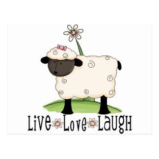 live-love-laugh-sheep postcard