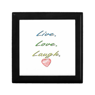 Live Love Laugh Small Square Gift Box