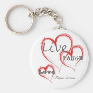 Live, Love, Laugh, Teague Brown Key Ring