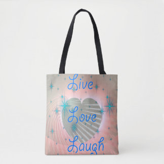 Live, love, laugh tote bag