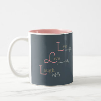 Live Love Laugh Two-Tone Coffee Mug
