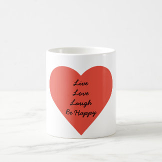 Live Love Laugh White 11 oz Classic White Mug