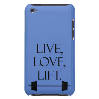 Live, Love, Lift Barely There iPod Cover
