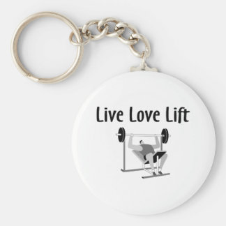 Live Love Lift Basic Round Button Key Ring