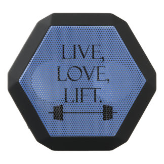 Live, Love, Lift Black Bluetooth Speaker
