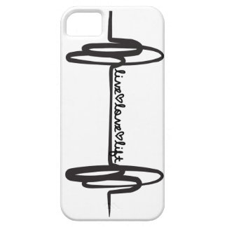 Live Love Lift Doodle Black iPhone 5 Cover