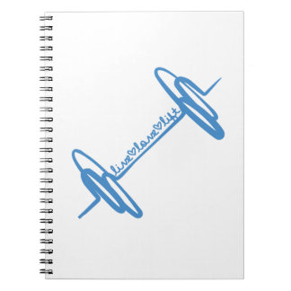Live Love Lift Doodle Blue Notebooks