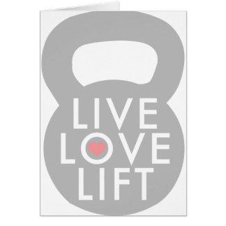 Live Love Lift Kettlebell Cards