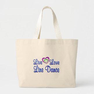 Live Love Line Dance Tote Bag