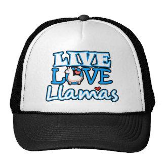 Live Love Llamas013.png Trucker Hat