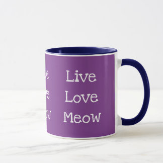 Live, Love, Meow Special Mug for Cat Lovers
