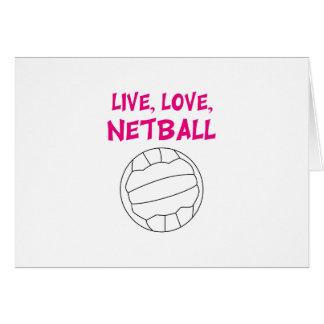 Live Love Netball Greeting Card